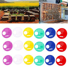 Suministros de apicultura, 20 Uds., puerta de nido de abeja de plástico/disco de entrada/colmena de abejas, caja de entrada Nuc, herramienta para puerta, equipación, producto práctico