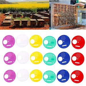 Image 1 - beekeeping supplies 20pc Plastic Bee Nest Door / Entrance Disc / Bee Hive Nuc Box Entrance Gate Tool Equipconvenient  product