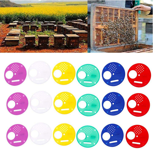 beekeeping supplies 20pc Plastic Bee Nest Door / Entrance Disc / Bee Hive Nuc Box Entrance Gate Tool Equipconvenient  product