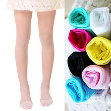 Candy Color Girls Kid Sheer Pantyhose Stockings Dance Ballet Tight Thin Solid Black Flesh White Tights for Children