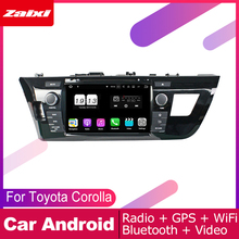 ZaiXi 2 DIN Auto DVD Player GPS Navi Navigation For Toyota Corolla 2013~2018 Car Android Multimedia System Screen Radio Stereo цены онлайн