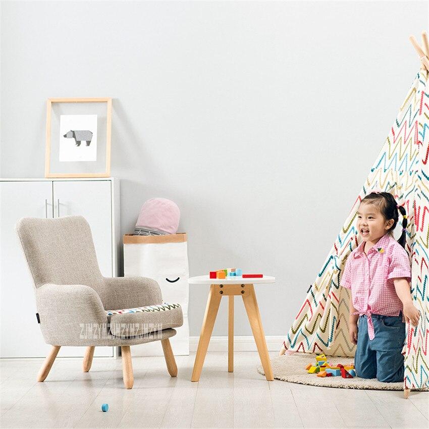 Living Room Children Single Sofa Chair Balcony Bedroom Rubber Wood  1