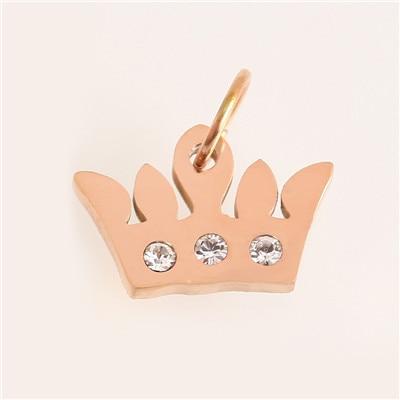 Модные аксессуары для изготовления ювелирных изделий из нержавеющей стали в форме сердца/короны/рождественской елки для изготовления браслетов и ожерелья - Цвет: AC18244