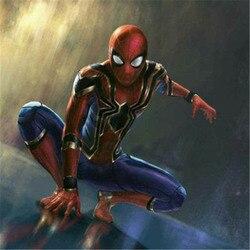 Костюмы для косплея супергероя «Человек-паук», «зентай», «Железный Человек-паук», комбинезоны, вечерние костюмы