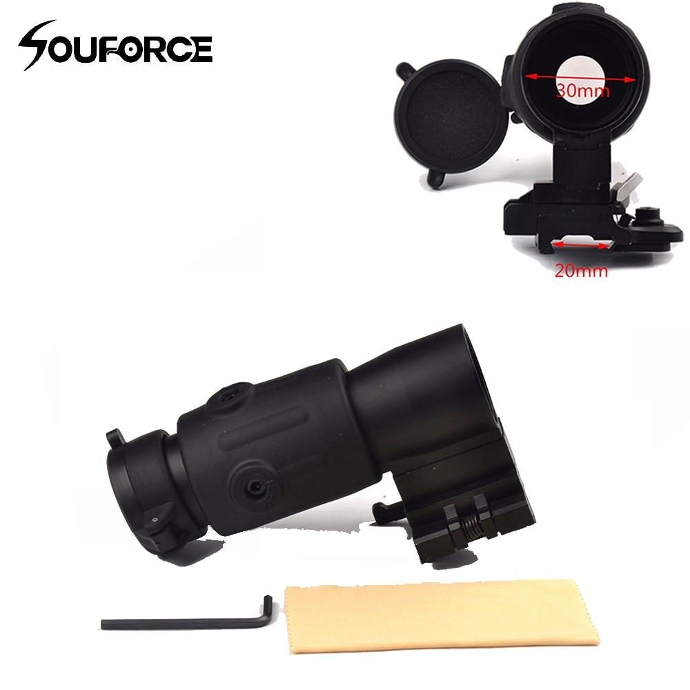 Tactical Sight 3x Magnifier Scope Quick Release 20mm Rail Flip Reflex Optics For Hunting Rifle Airsoft Sniper Picatinny Air Gun optical instrument
