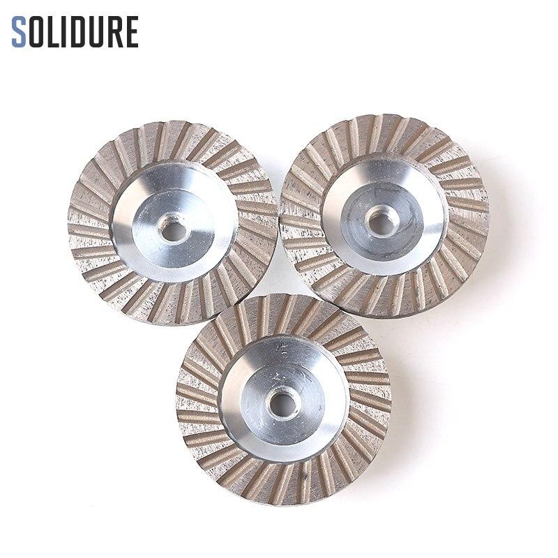3 шт./компл. 100 мм алмазные чашки 4 turbo чашки шлифовальные Алюминий backer абразивные инструменты для шлифования камень, бетон и плитки
