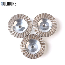 3pcs/set 100 mm diamond cup wheels 4 turbo cup grinding Aluminum backer abrasive tools for grinding stone,concrete and tiles