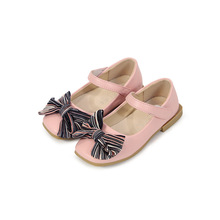 2019New Kids Shoes bow-knot Childrens Princess Little Baby Girls for party and wedding 1 2 3 4 5 6 7 8T pink black