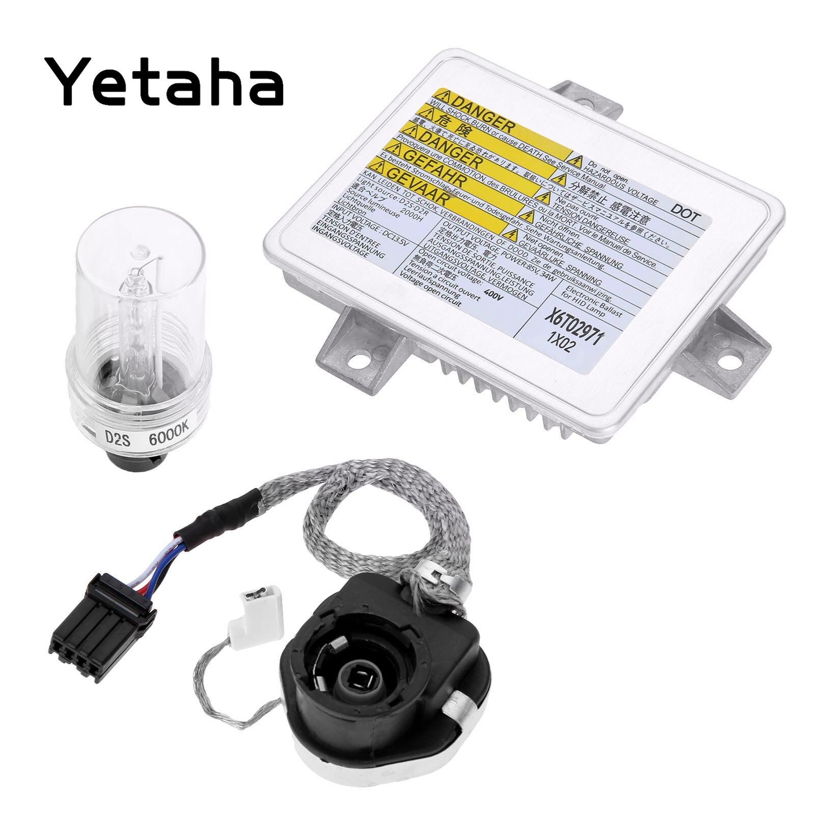 Yetaha Xenon HID Headlight Kit D2S D2R Ballast Igniter Control Starter Xenon Bulb X6T02971 W3T14371 For Acura TSX Honda Mazda 3 car light accessories amp d2s d2c d2r hid xenon cable adaptor socket for d2 d4 d4s d4r xenon hid headlight relay wiring harness