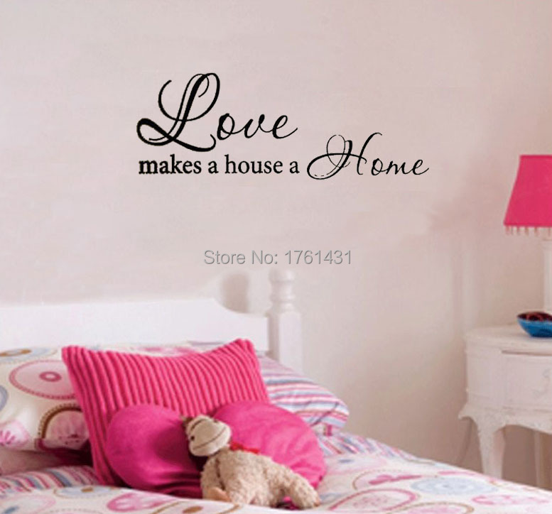 Liefde Maakt Een Huis Een Thuis decoratie wall art decals citaat ...
