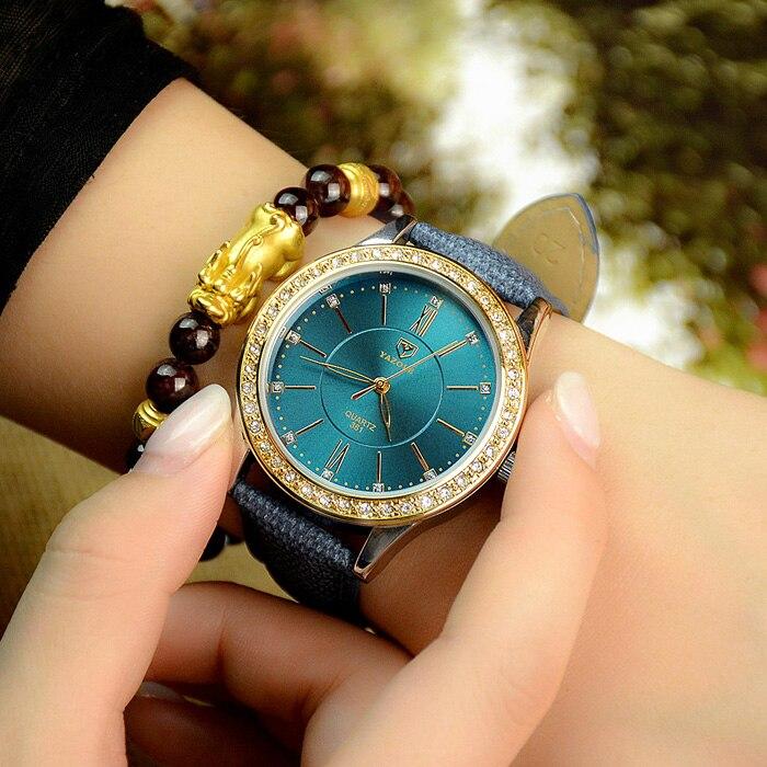 YAZOLE 361 Ladies Fashion Quartz Watch Women Rhinestone Casual Dress Women s Watch Rose Gold montre