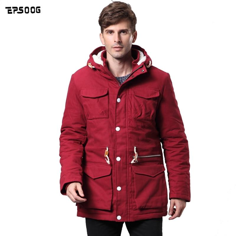 2017 New men's long parka heavy jacket coat winter jacket Hooded thick clothing Cotton jacket