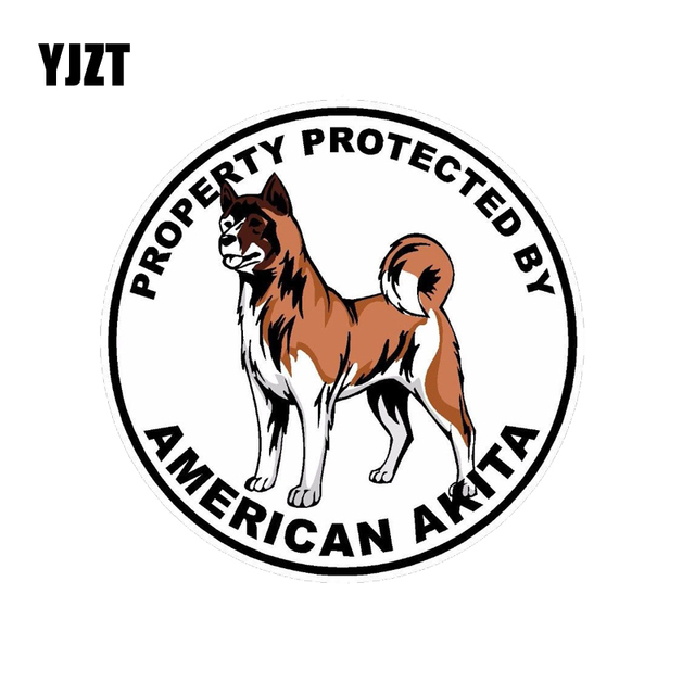Yjzt 1515cm American Akita Dog The Car Whole Body Pvc Car Sticker