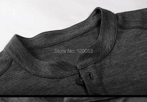 Image 3 - Mens100% Australia Merino Wool Long Sleeve Baselayer, Mens Merino Wool Baselayer Long Sleeve, With Placket