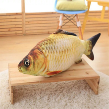40/60 CM Soft Simulation Fish Crucian Carp Dolls Fyllda Djur Funny Cat Pussel Leksaker Cartoon Golden Fish Gift För Barn BF077