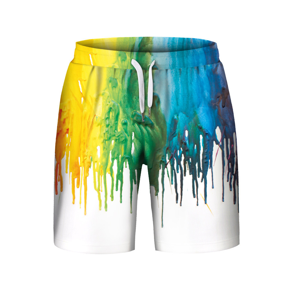 Funny Color Graffiti Print 3D   Shorts   Trunks Beach   Board     Shorts   Swimming   Short   Pants Swimsuits Mens Running Sports Surffing   short