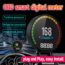 GEYIREN Diagnostic Tools Mini Car OBD2 Smart Gauge Scan Tool Trip Computer Car HUD OBD 2 Gauge P15 Auto head up display Newest autool x30 hud obd 2 head up display car gps speedometer headup obd2 projector headup smart digital auto universal display meter