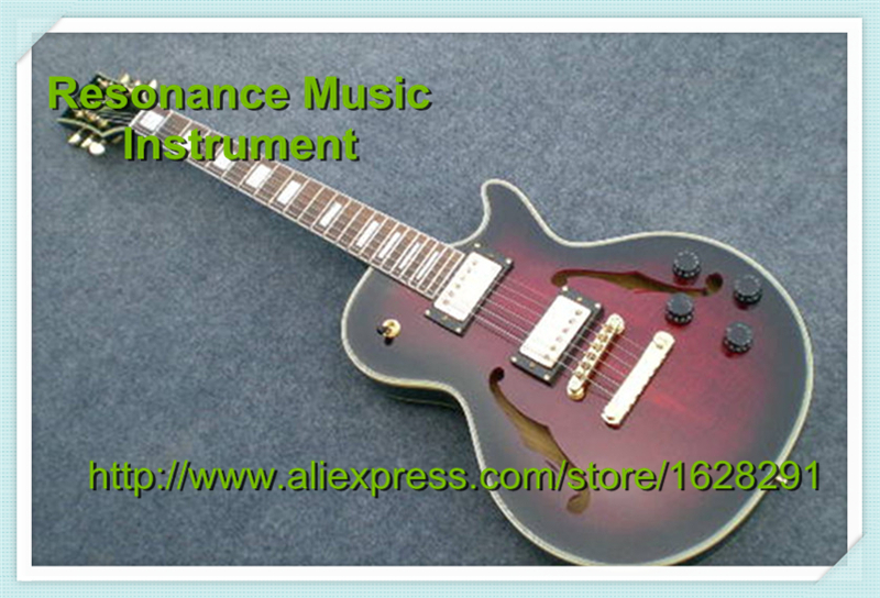 Hot Selling G Custom Shop Limited LP Florentine Jazz Semi-hollow Body Electric Guitar Desert Burst In Stock high quality custom shop lp jazz hollow body electric guitar vibrato system rosewood fingerboard mahogany body guitar