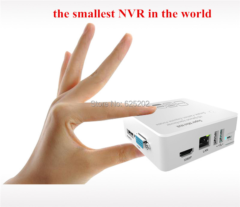 Super Mini NVR 4CH HD Network Video Recorder Smallest of the World mini world mn202