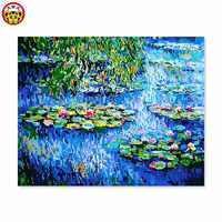 Malerei durch zahlen kunst farbe durch zahl Monet wasser lilie eine berühmte malerei von seine eigenen farbe DIY handarbeit