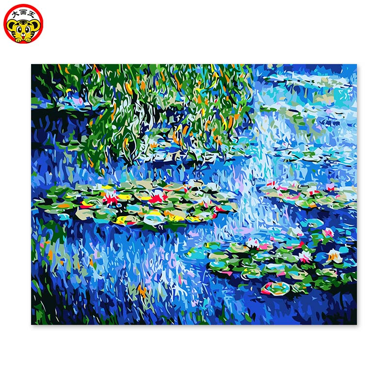 Painting By Numbers Art Paint By Number Monet Water Lily A Famous Painting Of Its Own Color DIY Handwork