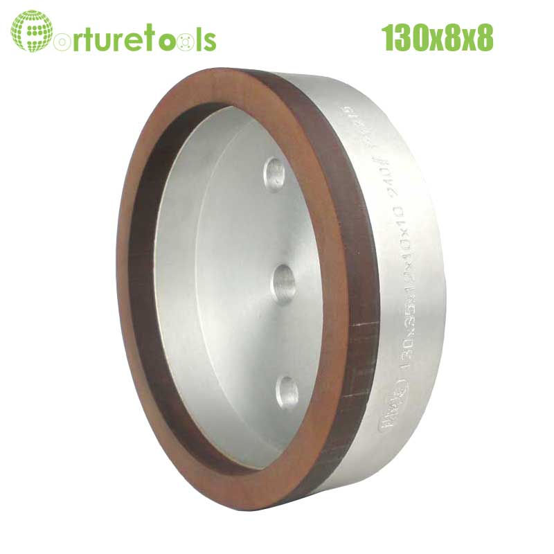 1piece 4# resinoid diamond wheels for glass straight line glass edger beveling machine Dia130x8x8 hole 12/22/50 grit 240 BL020 1pc internal half segment 2 diamond wheel for glass straight line double edger dia150x10x10 hole 12 22 50 grit 150 180 bl008
