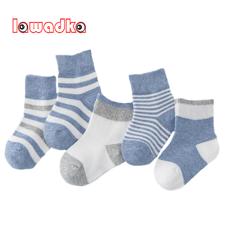 Lawadka 5Pairs/lot Cotton Striped Baby Socks Newborn Boys Girls Sock Cute Toddler Socks Size SandM lawadka 100 page 2
