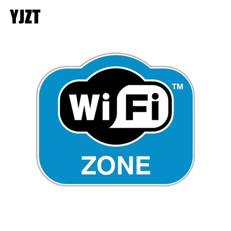 YJZT 12.7CM*10.6CM  Fashion WiFi Zone Internet  PVC Motorcycle Car Sticker 11-00712