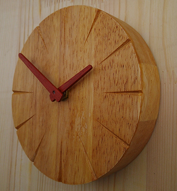 clock wood classic 6inch small wooden wall wall clock mute creative minimalist watches table