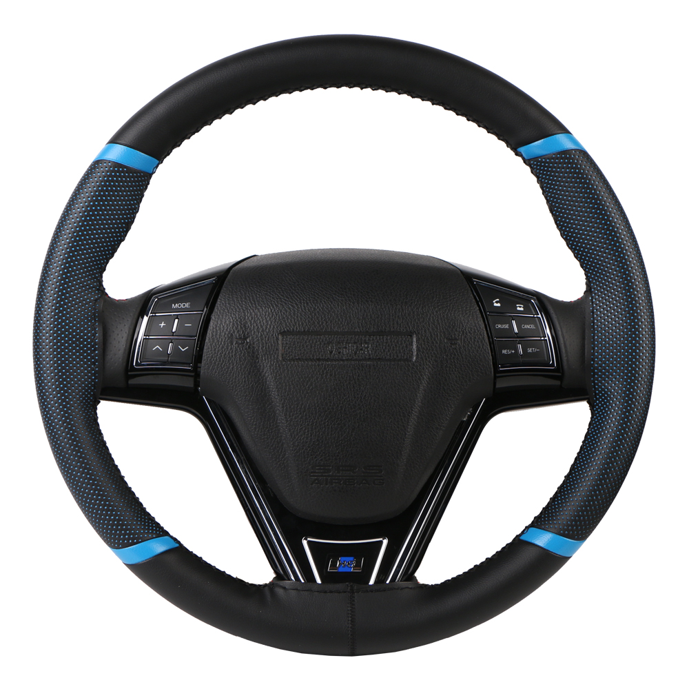 O SHI CAR Steering Wheel Cover Durable 38cm Stitch on Wrap case/Sport Style imitation leather steering cover with Needle &Thread