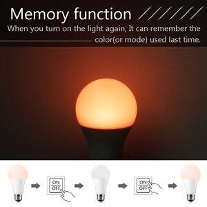 Image 4 - 110 فولت 220 فولت E27 Led لمبات RGB lambadas Led مصباح للمنزل 5050SMD أمبولة مصباح ليد لمبة 24 مفاتيح IR التحكم عن بعد 5 واط/10 واط/15 واط