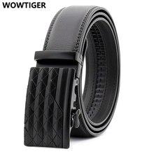 WOWTIGER męski automatyczny skórzany pasek z klamrą dla mężczyzn designerska marka luksusowy wysokiej jakości przyczynowy ceinture homme