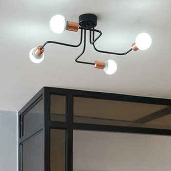 LED iron pipe ceiling lamp simple modern living room balcony lamp hanging bedroom creative personality ceiling lamps ZL272