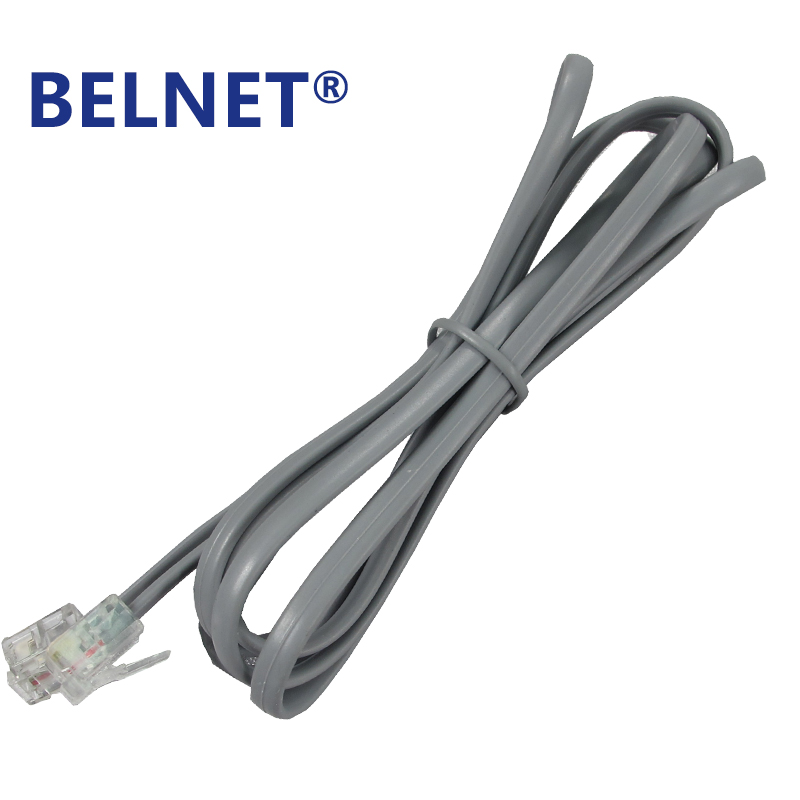 buy belnet rj11 copper telephone cable wire with 6p2c connectors 6p2c plug rj11. Black Bedroom Furniture Sets. Home Design Ideas