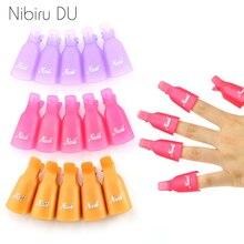 Pinzas de plástico para decoración de uñas, herramienta para envolver toallitas quitaesmaltes de esmalte UV en Gel, líquido para la eliminación de esmalte para manicura