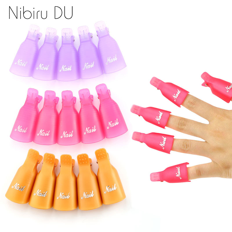 Plastic Nail Art Soak Off Cap Clips UV Gel Polish Remover Wrap Tool Fluid for Removal of Varnish Manicure Tools
