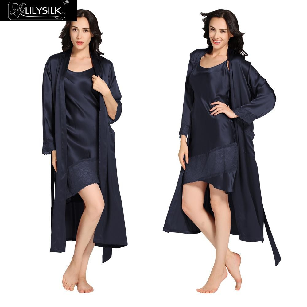 1000-navy-blue-22-momme-flowing-lace-silk-nightgown-&-dressing-gown-set