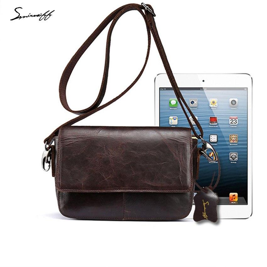 ФОТО SMIRNOFF 2017 Summer Women Vintage Oil Leather Bags Ladies Famous Brand Designer Handbag High Quality Leather Women Shoulder Bag
