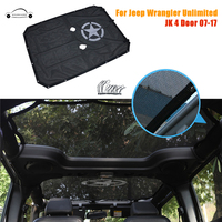 High Quality Auto Accessories Full Cover Eclipse Military Army Star Sun Shade For Jeep Wrangler JKU 4 Door 2007 2017 CAR CE046