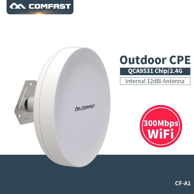 где купить 300Mbps Outdoor CPE 2.4G wi-fi Ethernet Access Point Wifi Bridge Wireless Range Extender CPE Router POE WIFI AP Router CF-A1 по лучшей цене