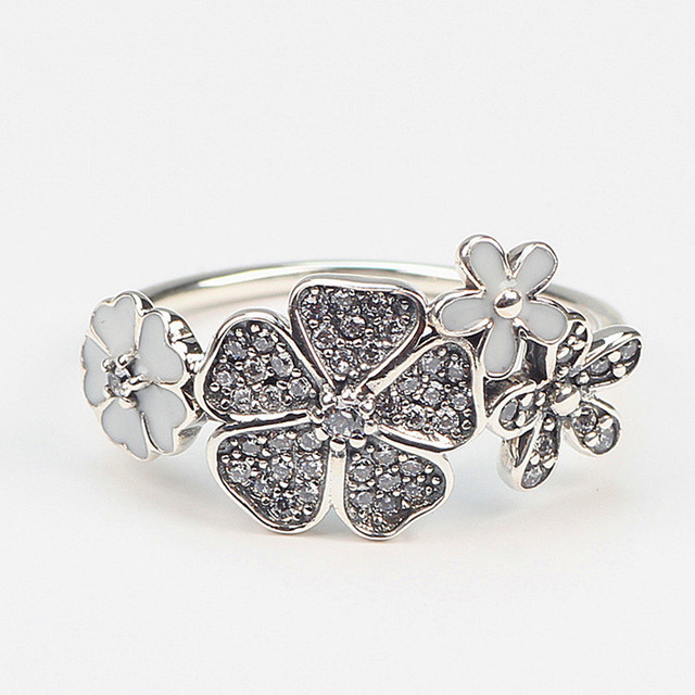 floral diamond ring cluster setting rings wedding tiffany style daisy vintage wanelo engagement shop on petite