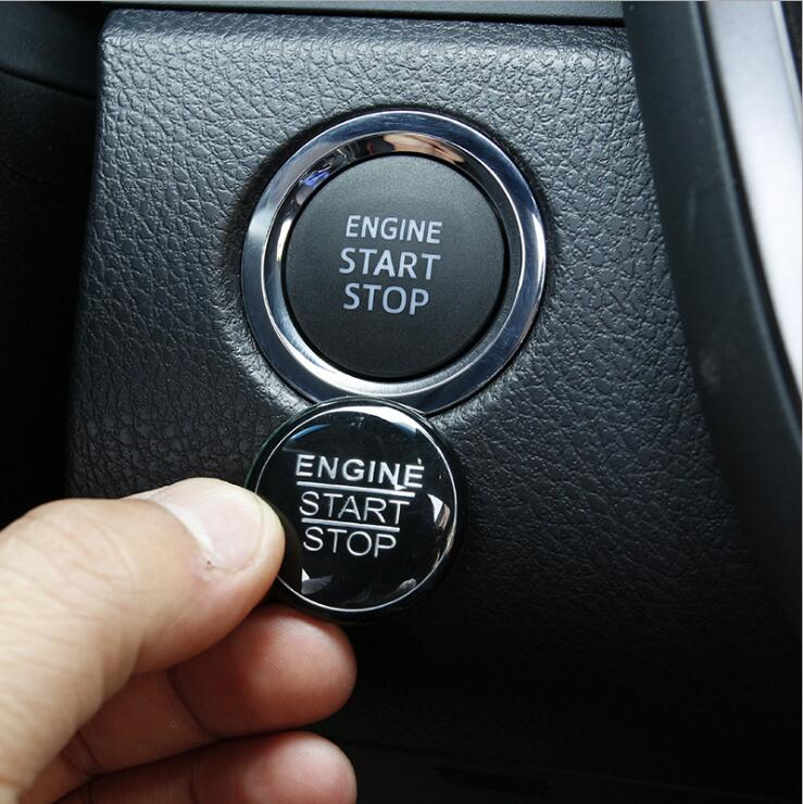 Car Engine Start Stop Button Sticker Cap Trim Cover For 2018 Toyota Camry XV70  Car Interior Accessories