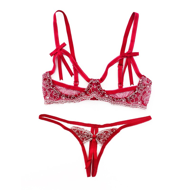 5fab7d5038 Sexy Mousse French Bra Brief Sets Ultra Slim Women Underwear Sexy ...