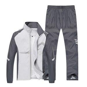 Image 2 - بدلة رياضية رجالية ربيعية ماركة أمبرهيرد 2019 بدلة رياضية جاكيت + بنطلون بدلة رياضية طقم مكون من قطعتين بدلة رياضية للرجال بدلة رياضية