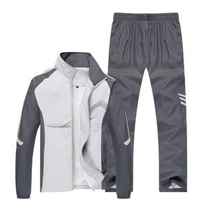 Image 2 - AmberHeard 2019 Spring Brand Tracksuit Men Sportswear Jacket+Pant Sweatsuit Two Piece Set Mens Sweatshirt Sporting Suit Clothing