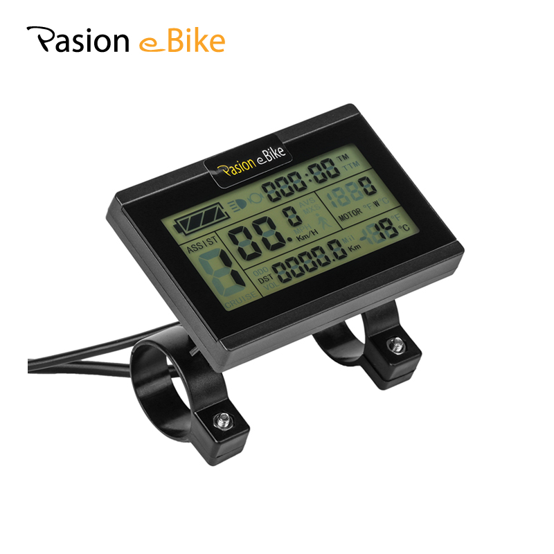 Latest Collection Of Ebike 24v 36v 48v 60v 72v Intelligent Kt Lcd Lcd8hu Ktlcd6 Control Panel Display Electric Bicycle Bike Parts Kt Controller Electric Vehicle Parts