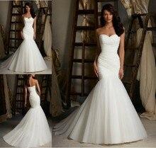 free shipping bandage dress 2014 New Style White/Ivory mermaid sweet princess bride Wedding Dress Bridal Gown Custom