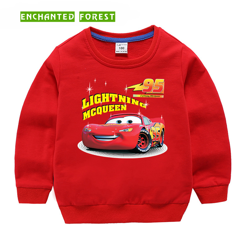 Children's sweater 2018 autumn children's clothes boy and girl cartoon car people print shirt baby casual cotton child sweater(China)
