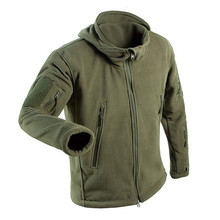 Outdoors Winter Tactical Jacket Men Fleece Warm Hoody Jackets Soft Shell Military Uniform Men Thermal Clothing Casual Hoodies