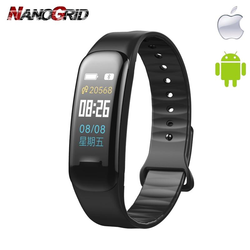Yeni Smart saat Bluetooth və rəhbər saat Hartslagmeter Qan - Kişi saatları